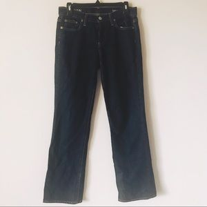 J Crew Boy Jean Dark Wash Button Fly Relaxed Fit